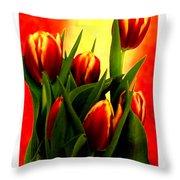 Becky Tulips Art2 Jgibney The Museum Gifts Throw Pillow