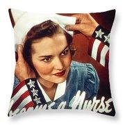 Become A Nurse Throw Pillow