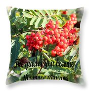 Become Quiet - Rumi Quote Throw Pillow