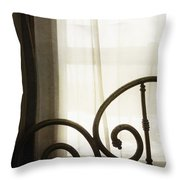 Bed By The Window Throw Pillow