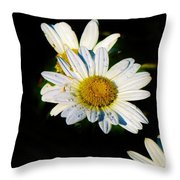 Bed Of Daisy's For Daisy Throw Pillow