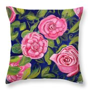 Bed Of Roses Throw Pillow