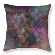 Bedazzled - Square Version Throw Pillow