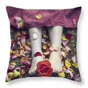 Bedded In Petals Throw Pillow