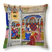 Bedford Hours Throw Pillow