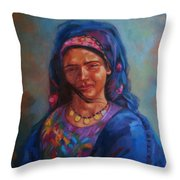 Bedouin Woman Throw Pillow