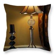 Bedroom Lamp Throw Pillow