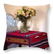 Bedside Desert Roses Palm Springs Throw Pillow