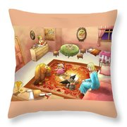 Bedtime For Tammy Throw Pillow