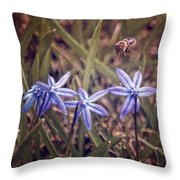 Bee And Squill Throw Pillow