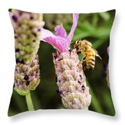 Bee At Work Here Throw Pillow