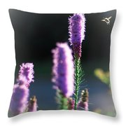 Bee At Work Throw Pillow