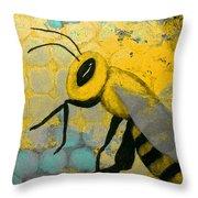 Bee Aware Throw Pillow