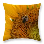 Bee Business Throw Pillow