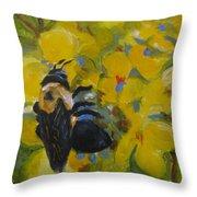 Bee-havin' Throw Pillow