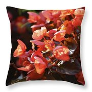 Bee In The Bush Throw Pillow