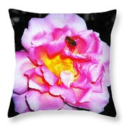 Bee Landing Throw Pillow