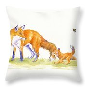 Bee-loved Throw Pillow