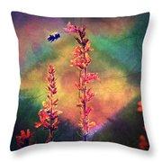 Bee N Wildflowers Diamond Earth Tones Throw Pillow