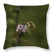 Bee Pollination Throw Pillow