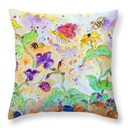 Bee Season Throw Pillow
