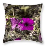 Bee To A Flower Throw Pillow