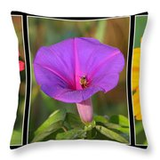 Bee Triptych Throw Pillow