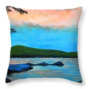 Beech Hill Pond Throw Pillow