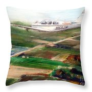 Beechcraft Bonanza Throw Pillow