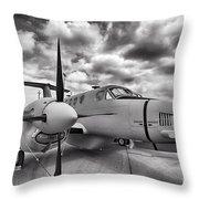 Beechcraft C-12 Huron Throw Pillow
