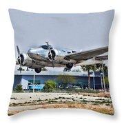 Beechcraft D-18 Throw Pillow