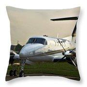 Beechcraft Throw Pillow