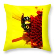 #beegreen Throw Pillow