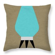 Beehive Lamp Turquoise Throw Pillow