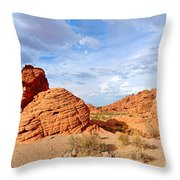 Beehive Rock Formation Under A Stormy Sky In Nevada Valley Of Fire State Park Throw Pillow