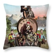 Beer Ad C1870 Throw Pillow