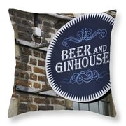 Beer And Ginhouse Throw Pillow