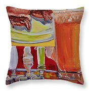 Beer And Pork Sliders Throw Pillow