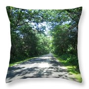 Beer Can Alley Throw Pillow