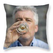 Beer Drinker Throw Pillow