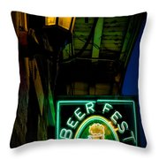 Beer Fest And Lamp Throw Pillow