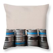 Beer Kegs Throw Pillow