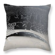 Beer Residue Throw Pillow by Paulette B Wright