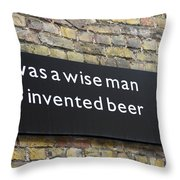 Beer Sign Throw Pillow