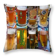 Beers Of Europe Throw Pillow