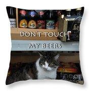 Beers Warden Throw Pillow