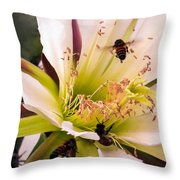 Bees In Blossom Throw Pillow