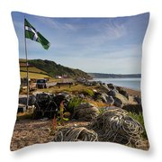 Beesands Throw Pillow