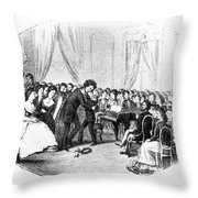 Beethoven & Liszt, 1823 Throw Pillow