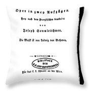 Beethoven Fidelio, 1805 Throw Pillow